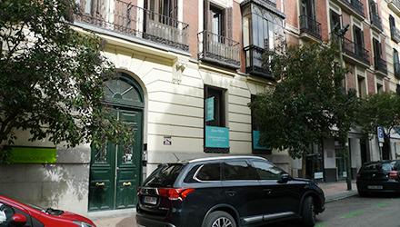 Ubicación de Sane Pilates en la calle Columela, Madrid