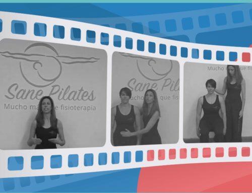 Vídeos del centro de energía, respiración y un ejercicio básico de Pilates